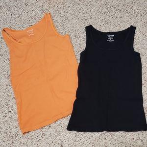 SONOMA Orange & Black Tank Top Bundle [Small]